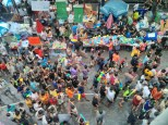 Songkran in Bangkok - Silom from above 8