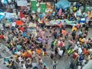 Songkran in Bangkok - Silom from above 8