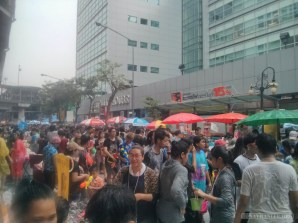 Songkran in Bangkok - Silom street 8