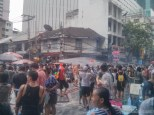 Songkran in Bangkok - Silom water cannon 3