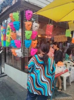 Songkran in Bangkok - masks for sale
