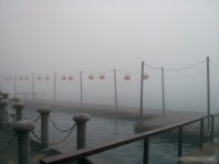 Sun Moon Lake - fog covered pier