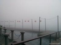 Sun Moon Lake - fog covered pier