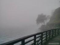 Sun Moon Lake - fog covered shoreline