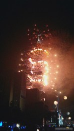 Taipei 101 New Years fireworks - fireworks 11