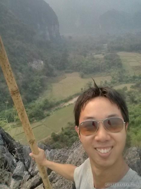 Vang Vieng - Pha Poak peak portrait 3