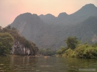 Vang Vieng - tubing on river 6