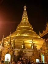 Yangon - Shwedagon pagoda at night 3