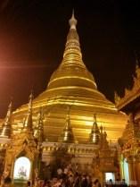 Yangon - Shwedagon pagoda at night 3