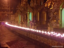 Yangon - Shwedagon pagoda at night 8
