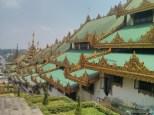 Yangon - Shwedagon pagoda descending east