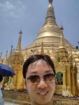 Yangon - Shwedagon pagoda portrait 1