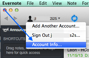 evernote-email-account-info