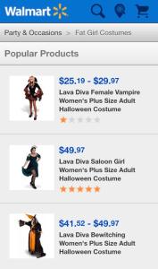 Wal Mart Fat Girl Costumes