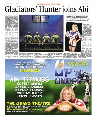 Abi Titmus in the Blackpool Gazette