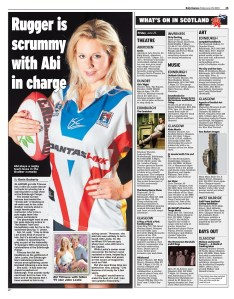 Abi Titmus, in Up 'n' Under in the Daily Express national newspaper