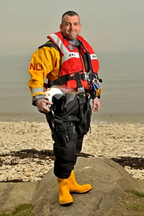 Andy Lyne lost near 20 stone to join RNLI