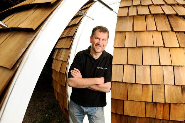 Chris and his revolutionary reinvented garden shed, the Archipod