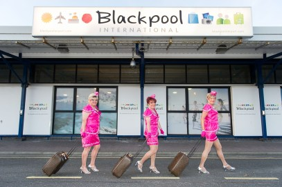 Paul and his fellow performers arrive in Blackpool
