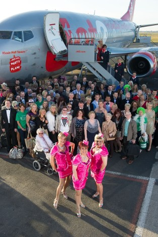 The Jet2 plane at the airport in Blackpool