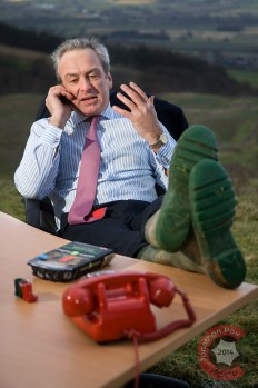 Corporate portrait complete with desk in the North Yorkshire Moors (Andrew assures me this is how he always works)