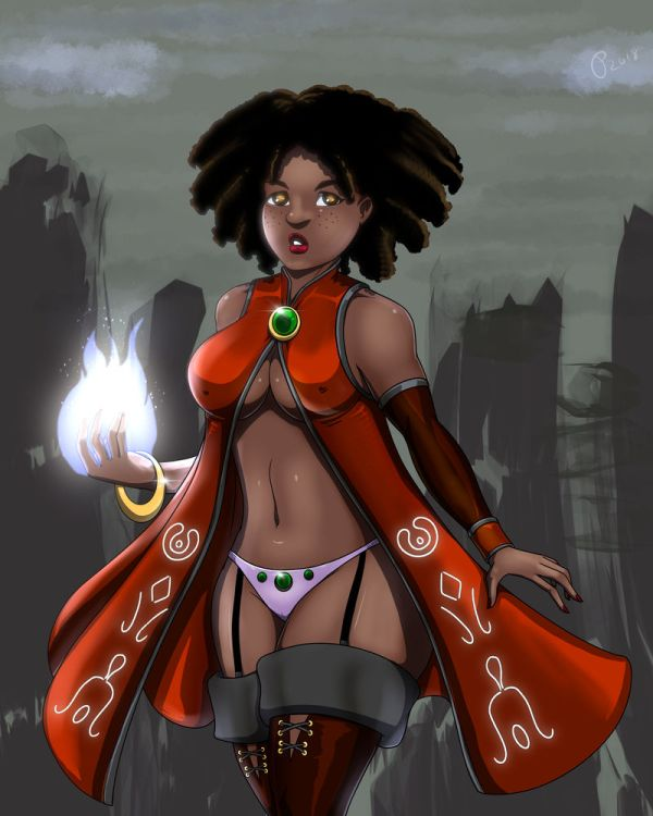 Amari the Sorceress. I'm planning to make a sprite out of this one.
