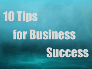 10 Tips for Business Success