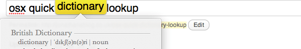 Read more about the article Osx quick dictionary lookup