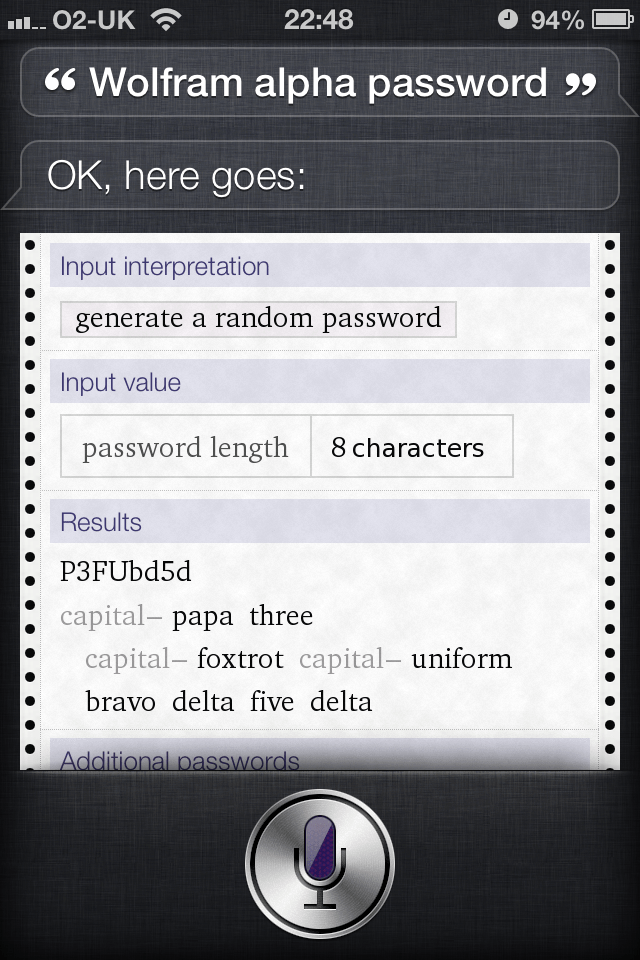 Read more about the article Use siri to generate secure passwords