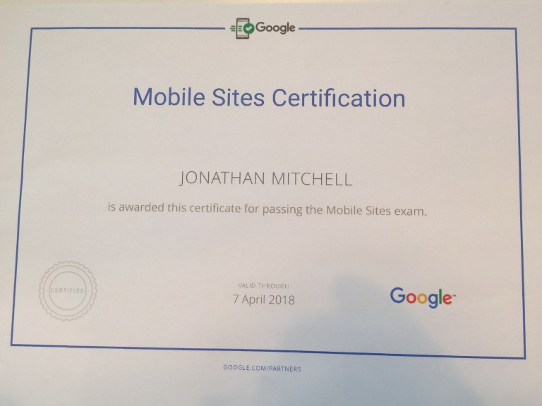 Read more about the article Google Partners Mobile Sites Certification
