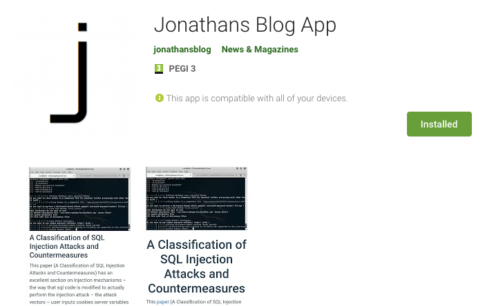 Read more about the article Jonathansblog App