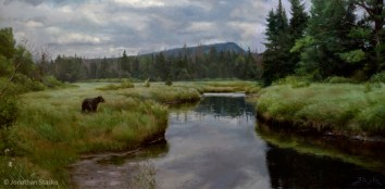 In the Tranquil Wild, oil on linen, 24x48