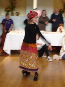 Photo of Diana Payne-Myers dancing at her 80th birthday party