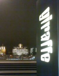 On the way home from Giraffe, facing the Savoy. What a view.