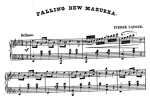 Image of sheet music of a mazurka for piano