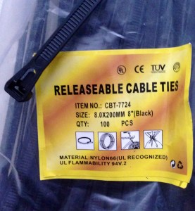 Resealable cable ties. What everyone should have for Christmas