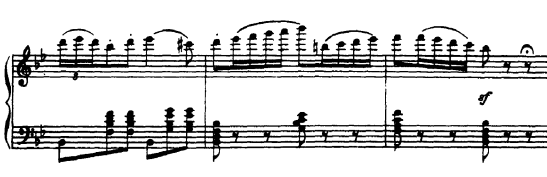 The male solo from 'Tchaikovsky Pas de Deux' - a truly triple 3 (despite the 6/8 time signature)