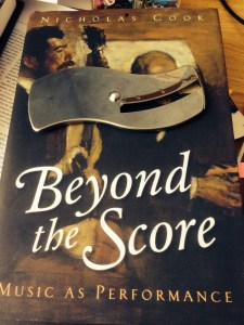 """Beyond the Score"" and the implement that helped me understand Schenker's complaint about piano fingering"