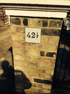 A house with the number 42 and half to accompany an article on musical phrasing in ballet