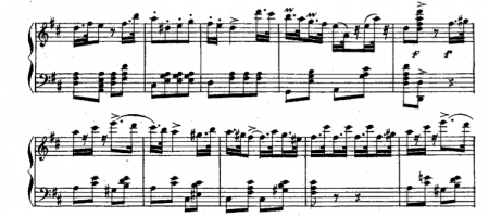 "Variation from the ballet in Donizetti's ""La Favorite,"" useful for 2/4 sissonne exercises"
