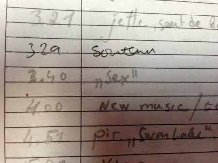 """rehearsal marks for a ballet that includes the cue """"soutenu-sex"""""""
