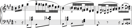 Image of the score of a csárdás: a useful piece if you're playing for ballet class