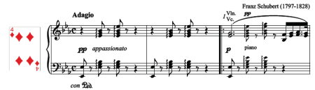 Schubert Notturno for piano solo: click to download the free score