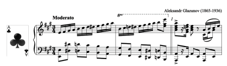 Polonaise by Glazunov, piano score