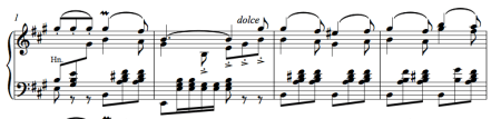 Ballet music waltz by Adolphe Adam - picture of piano score