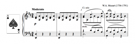 Mozart clarinet concerto, arranged for piano solo (image)