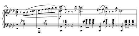 Esmeralda male variation music (clip of the piano score)