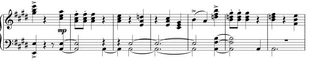 Screen grab of a section of Cherepnin's Grande Valse from Le Pavillon d'Armide