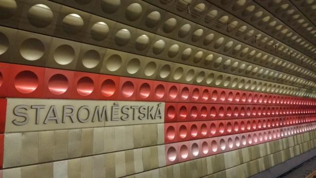 Staroměstská metro station in Prague