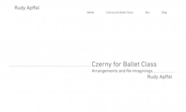 Rudy Apffel's Czerny for Ballet Class Blog
